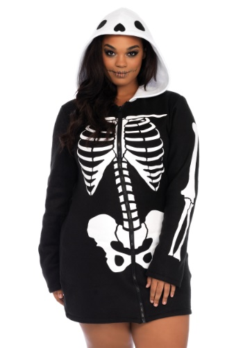Plus Size Cozy Skeleton Costume