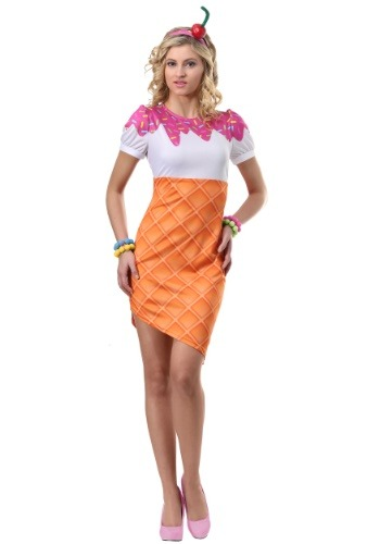 Women's Ice Cream Cone Costume