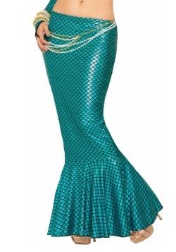 Women's Blue Mermaid Fin Skirt