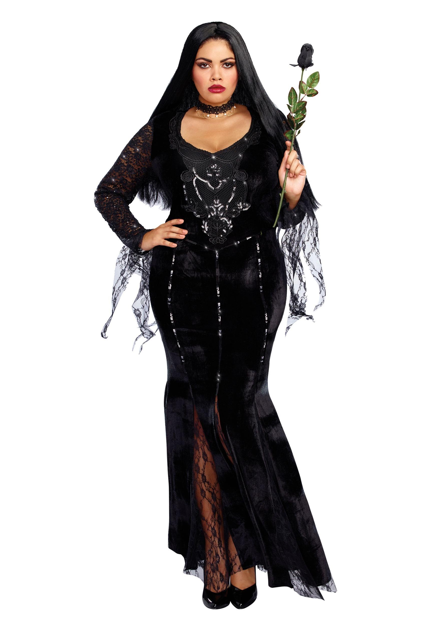 mortuary mama plus size costume for women