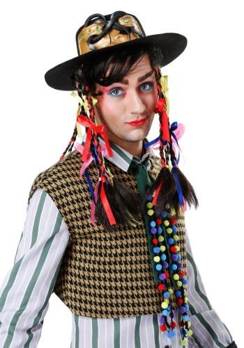 Men's Chameleon Popstar Hat w/ Wig