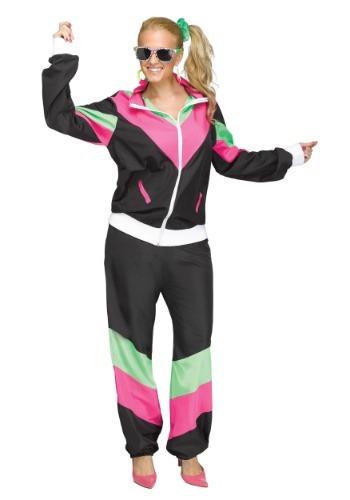Women's 80's Track Suit Plus Size Costume