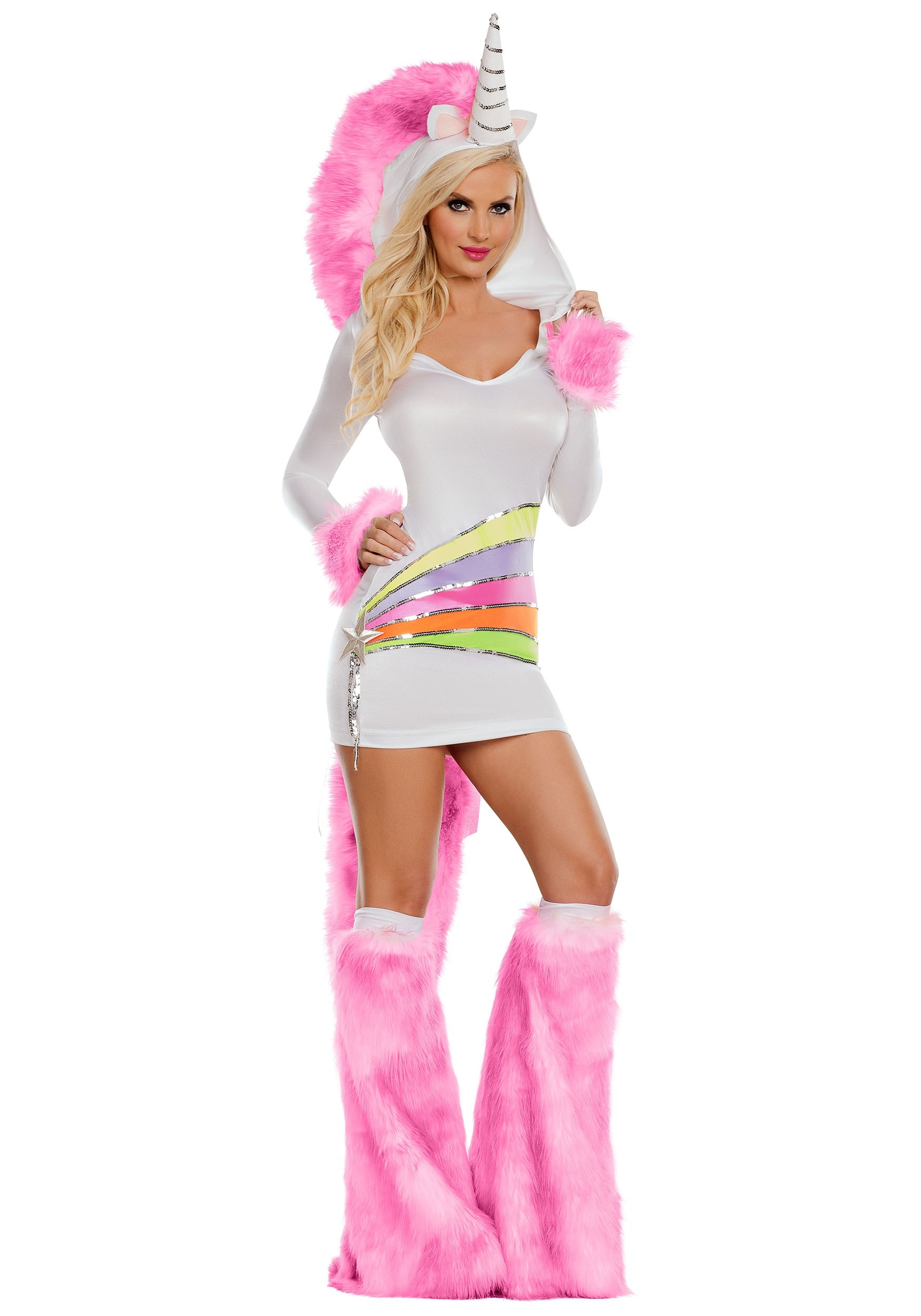 Rainbow Unicorn Women's Fancy Dress Costume