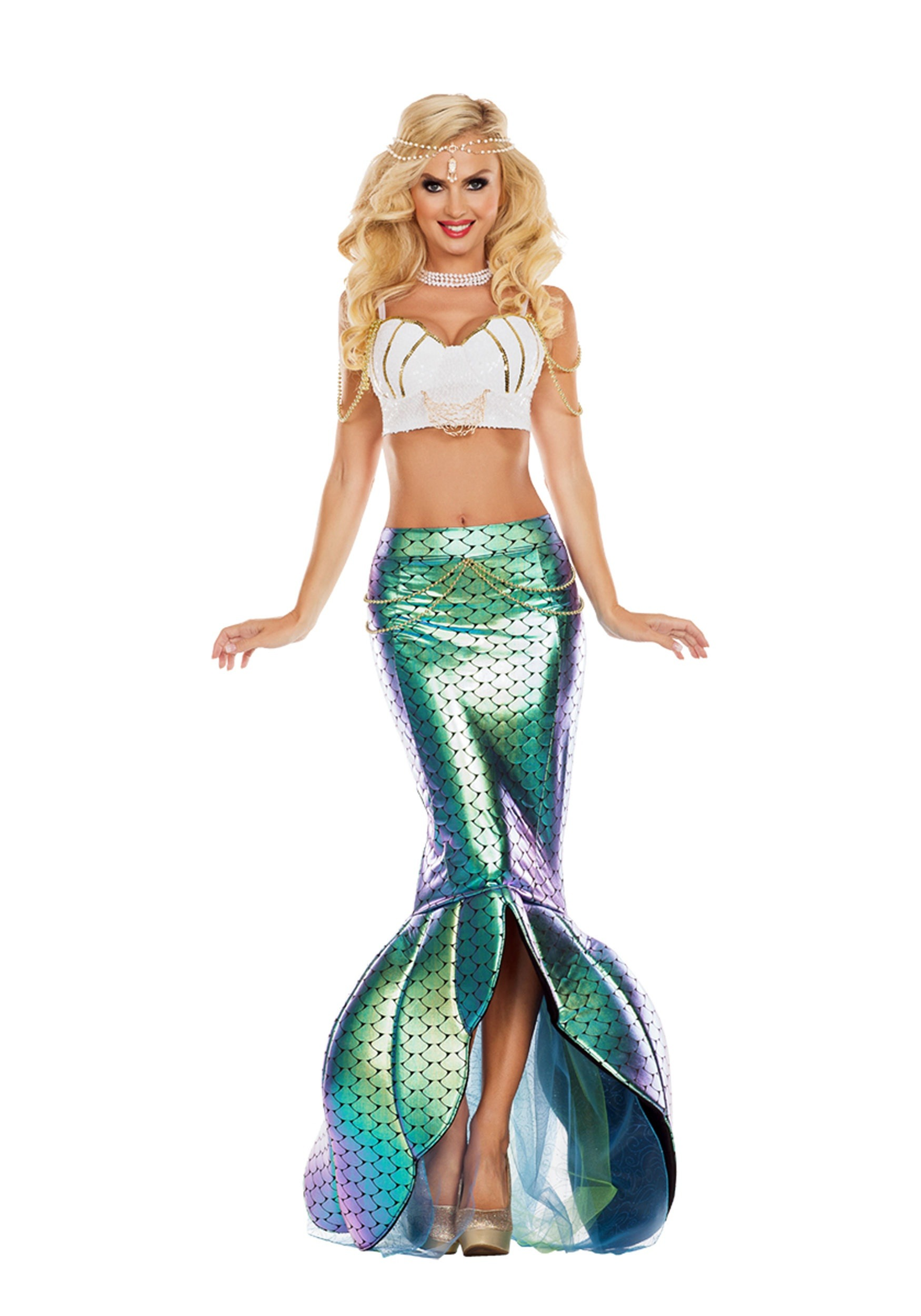 Under the Sea Mermaid Fancy Dress Costume for Women