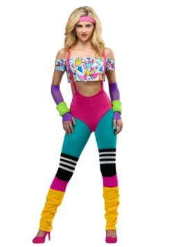 Women's Work It Out 80's Costume