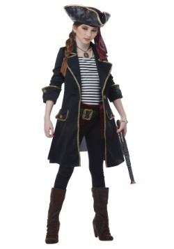 High Seas Captain Girls Costume