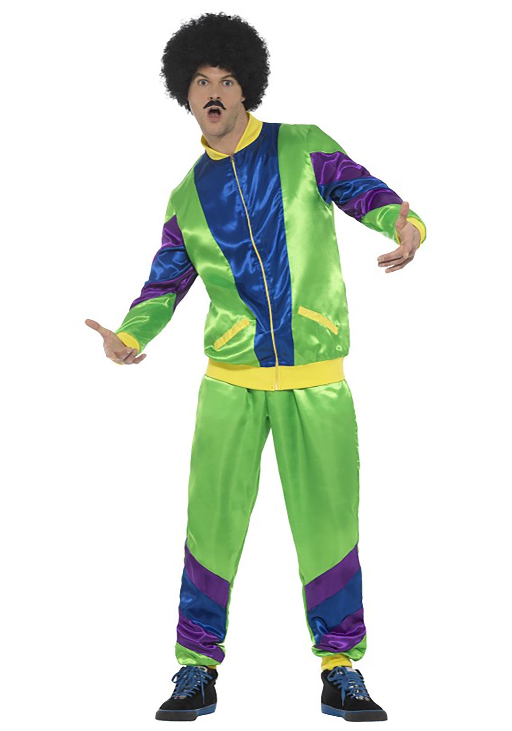 Men\u0027s 80s Tracksuit Costume
