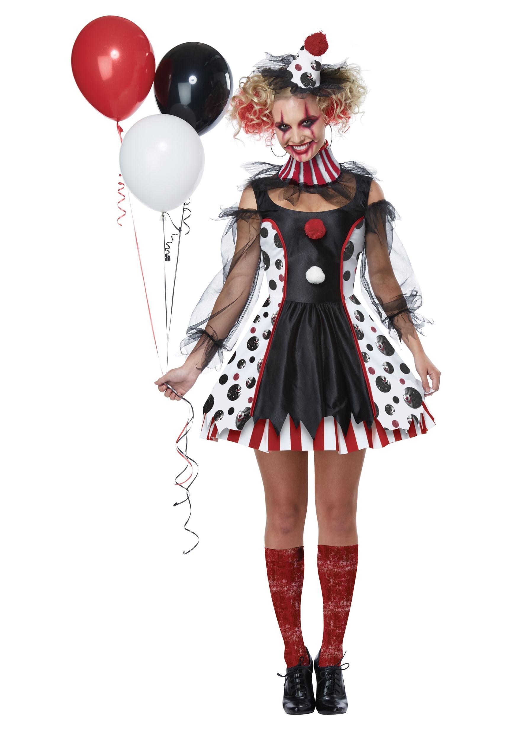 2d90118d120da Creepy Clown Costume for Women