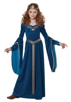 Teal Medieval Princess Girls Costume-update1