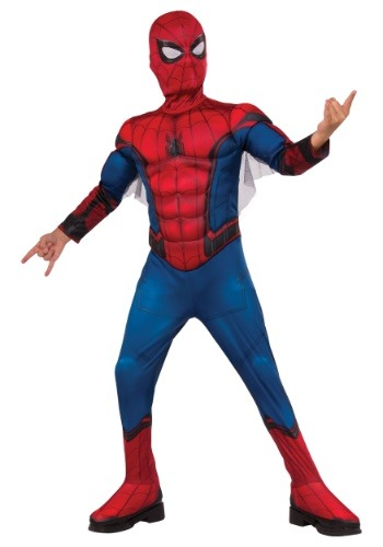 Boys Deluxe Spiderman Costume