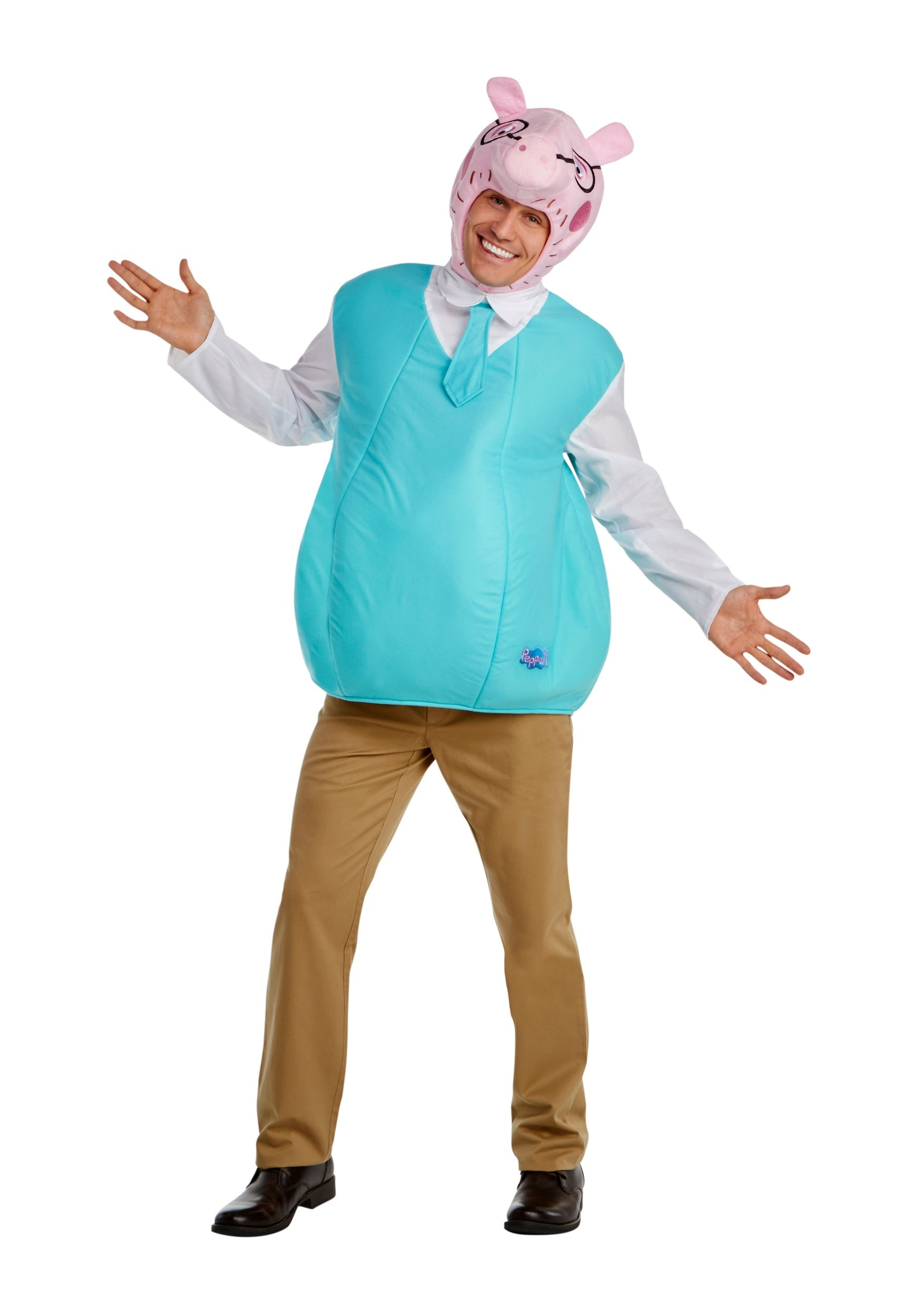 Men's Daddy Pig Fancy Dress Costume from Peppa Pig