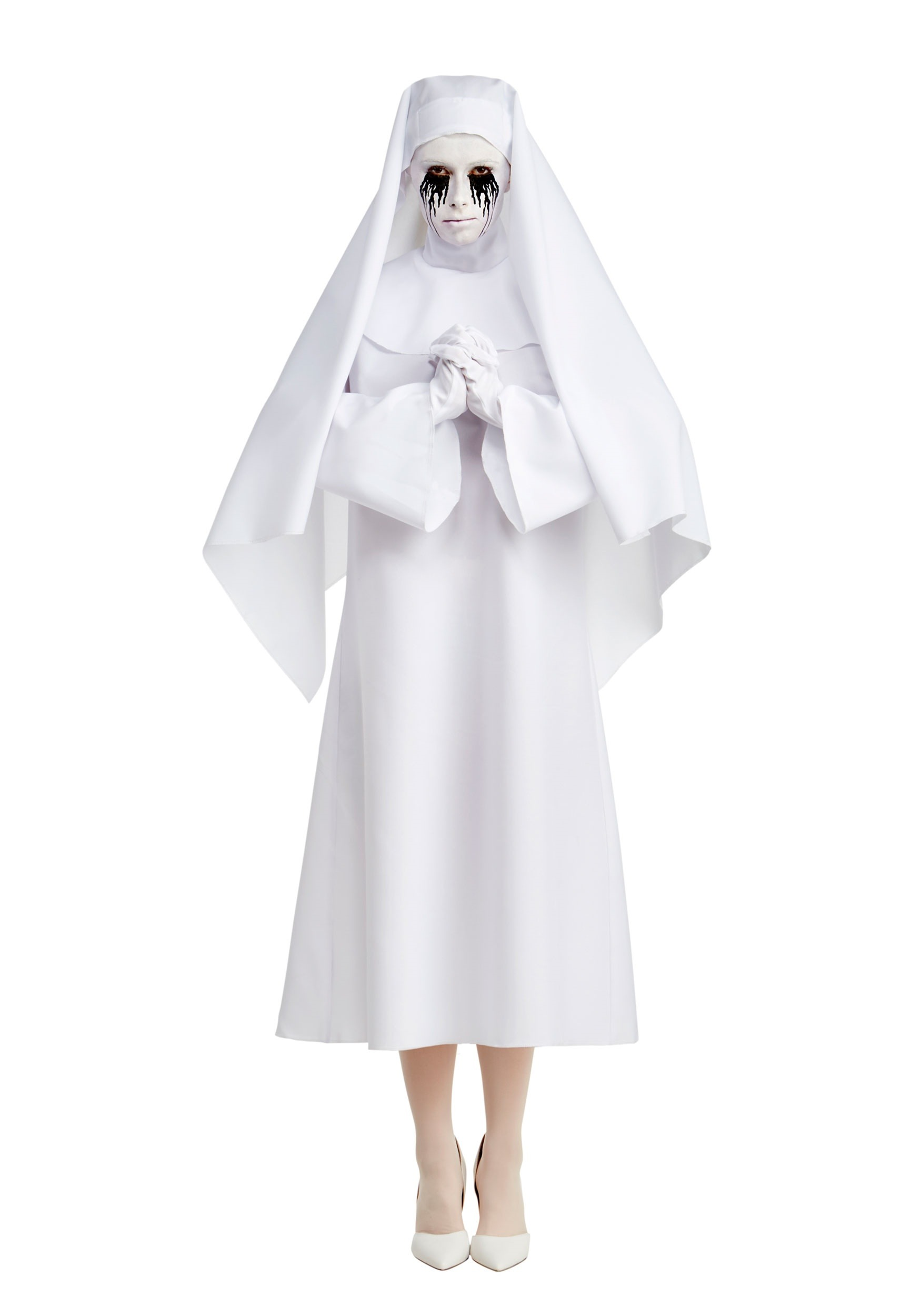 INOpets.com Anything for Pets Parents & Their Pets American Horror Story The White Nun Deluxe Fancy Dress Costume for Women