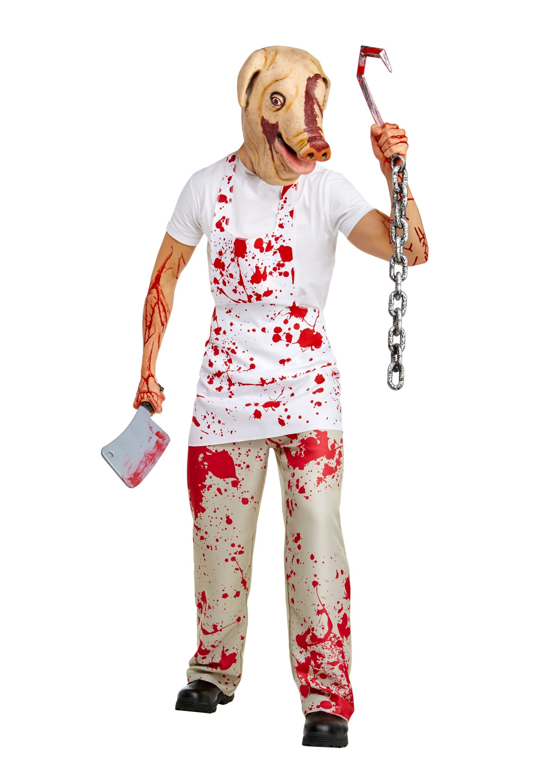 Adult Piggy Man Fancy Dress Costume from American Horror Story