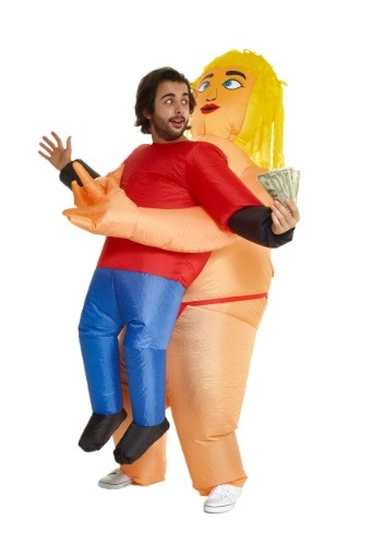 Pick Me Up Stripper Inflatable Mens Costume