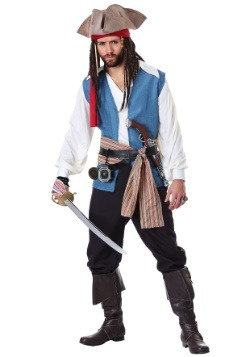 Plus Size Mens Sparrow Pirate Costume