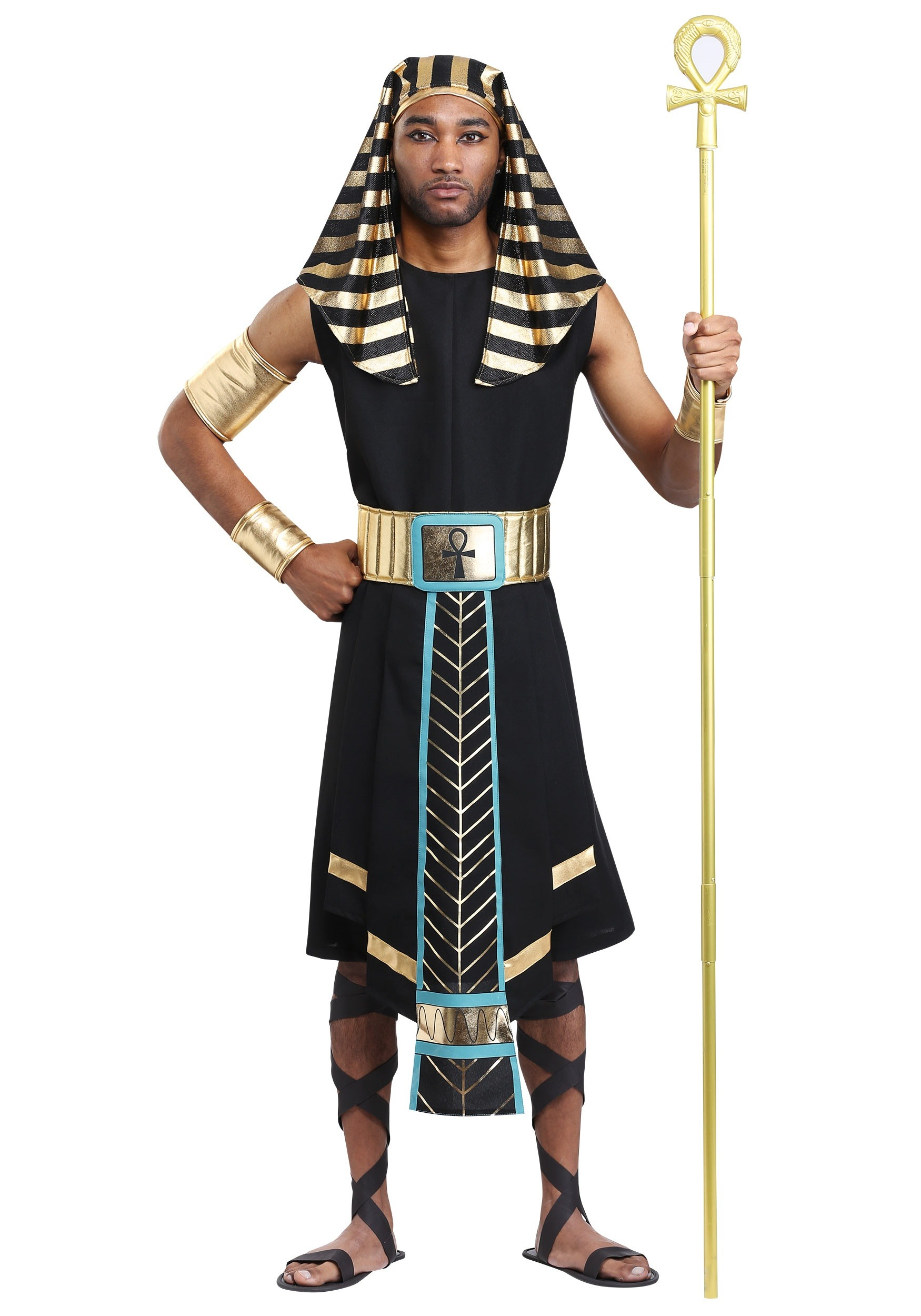 Menu0027s Dark Egyptian Pharaoh Costume  sc 1 st  Halloween Costumes EU & Dark Egyptian Pharaoh Costume for Men