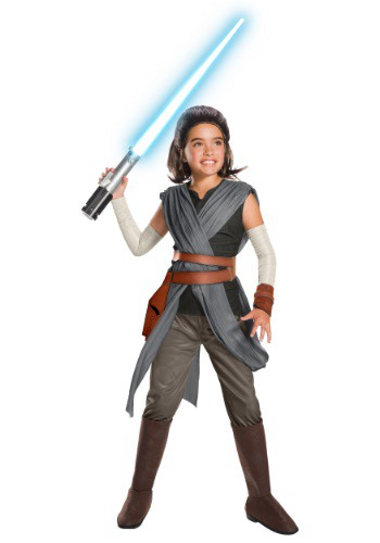 Star Wars The Last Jedi Super Deluxe Rey Kids Costume