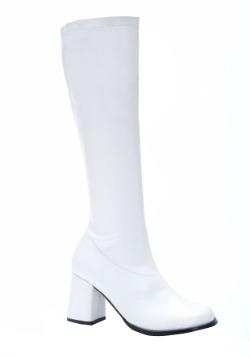 Women's White Gogo Boots