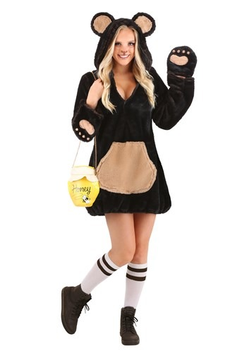 Women's Cozy Brown Bear Costume
