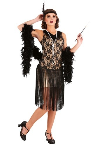 Women's Speakeasy Flapper Plus Size Costume