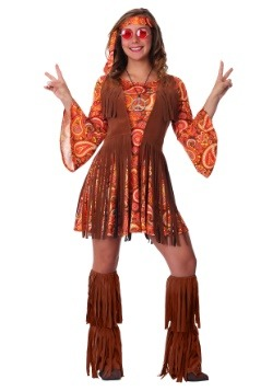 Women's Plus Size Fringe Hippie Costume