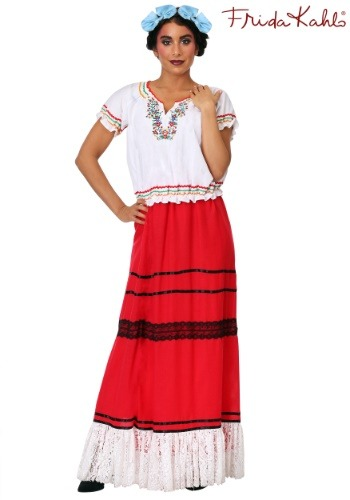 Women's Plus Red Frida Kahlo Costume