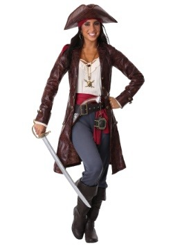 Women's Plus Pretty Pirate Captain Costume