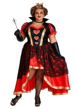 Women's Plus Size Dark Queen of Hearts Costume