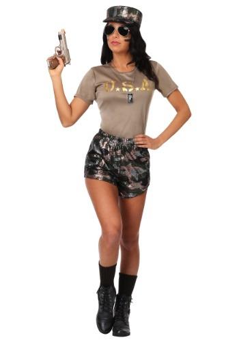 Women's Boot Camp Babe Costume