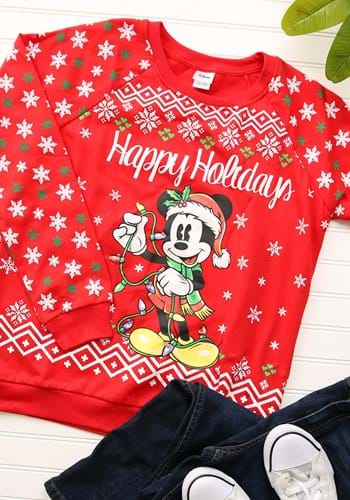 Happy Holidays Mickey Mouse Juniors Light Up Sweater