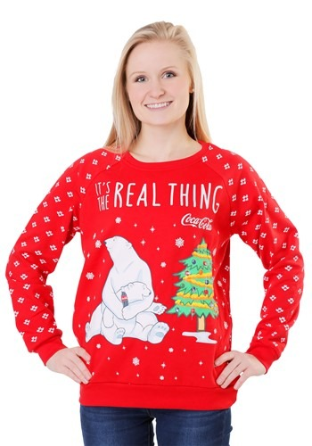 Coca Cola Polar Bear Light Up Juniors Sweatshirt1