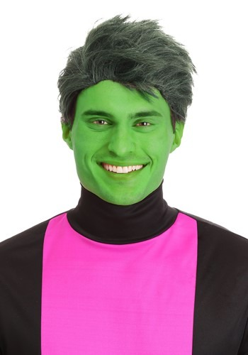Green Shapeshifting Superhero Wig Men's