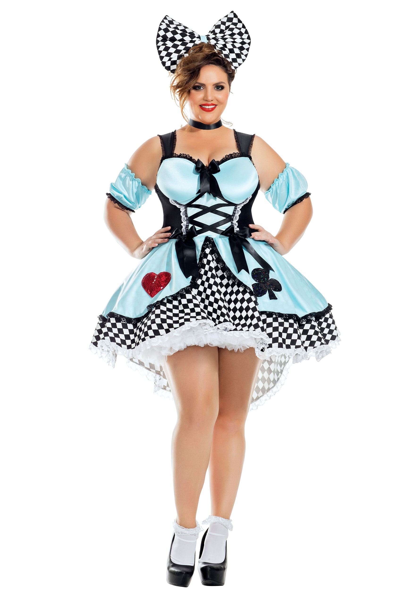Flirtatious Alice Plus Size Fancy Dress Costume for Women