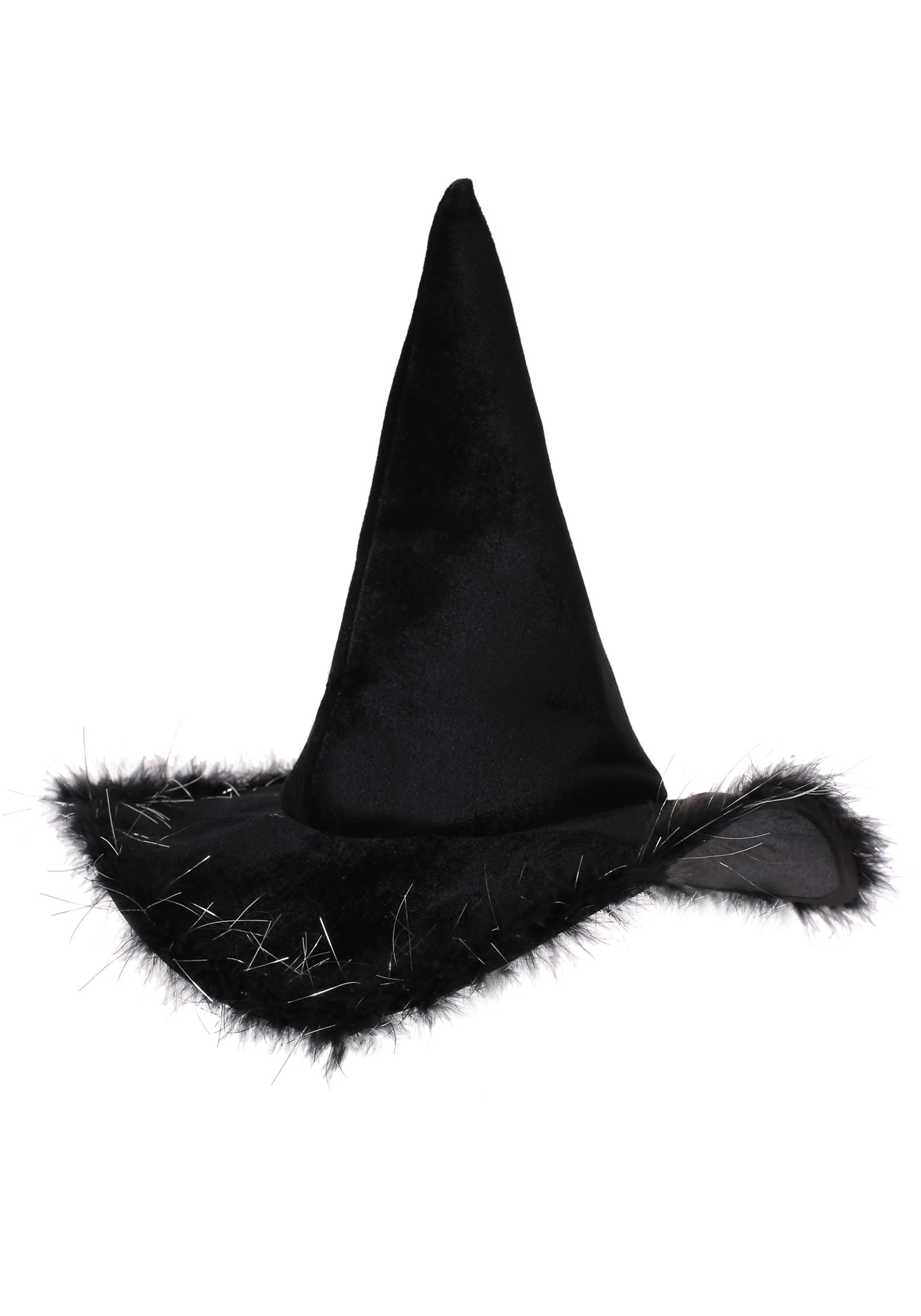 242457e427e Velvet Witch Hat With Fur for Adults