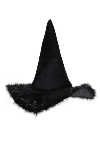 Adult Velvet Witch Hat With Fur