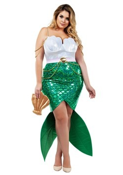Women's Plus Size Alluring Sea Siren Mermaid Costume
