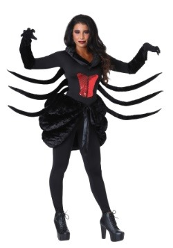 Women's Plus Size Black Widow Costume1