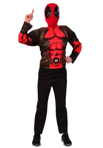 Child Deluxe Deadpool Mask & Top Costume Set