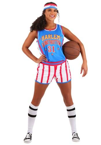 Women's Harlem Globetrotters Uniform Costume-1