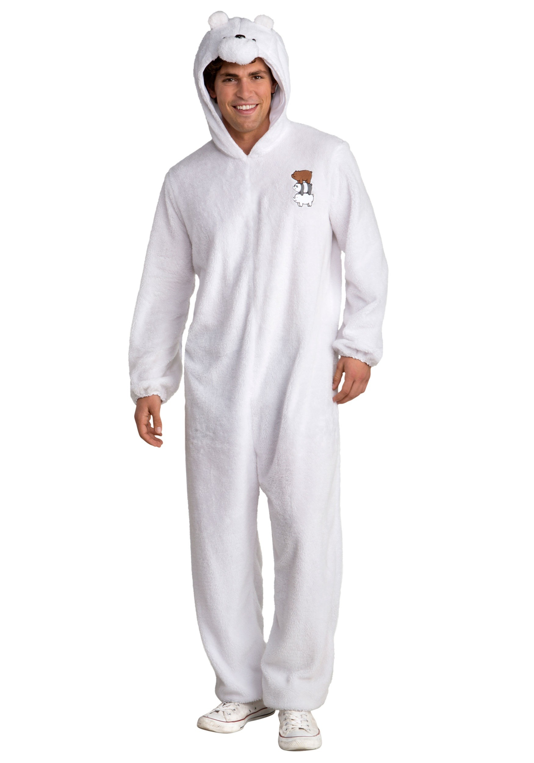 INOpets.com Anything for Pets Parents & Their Pets We Bare Bears Ice Bear Fancy Dress Costume for Men