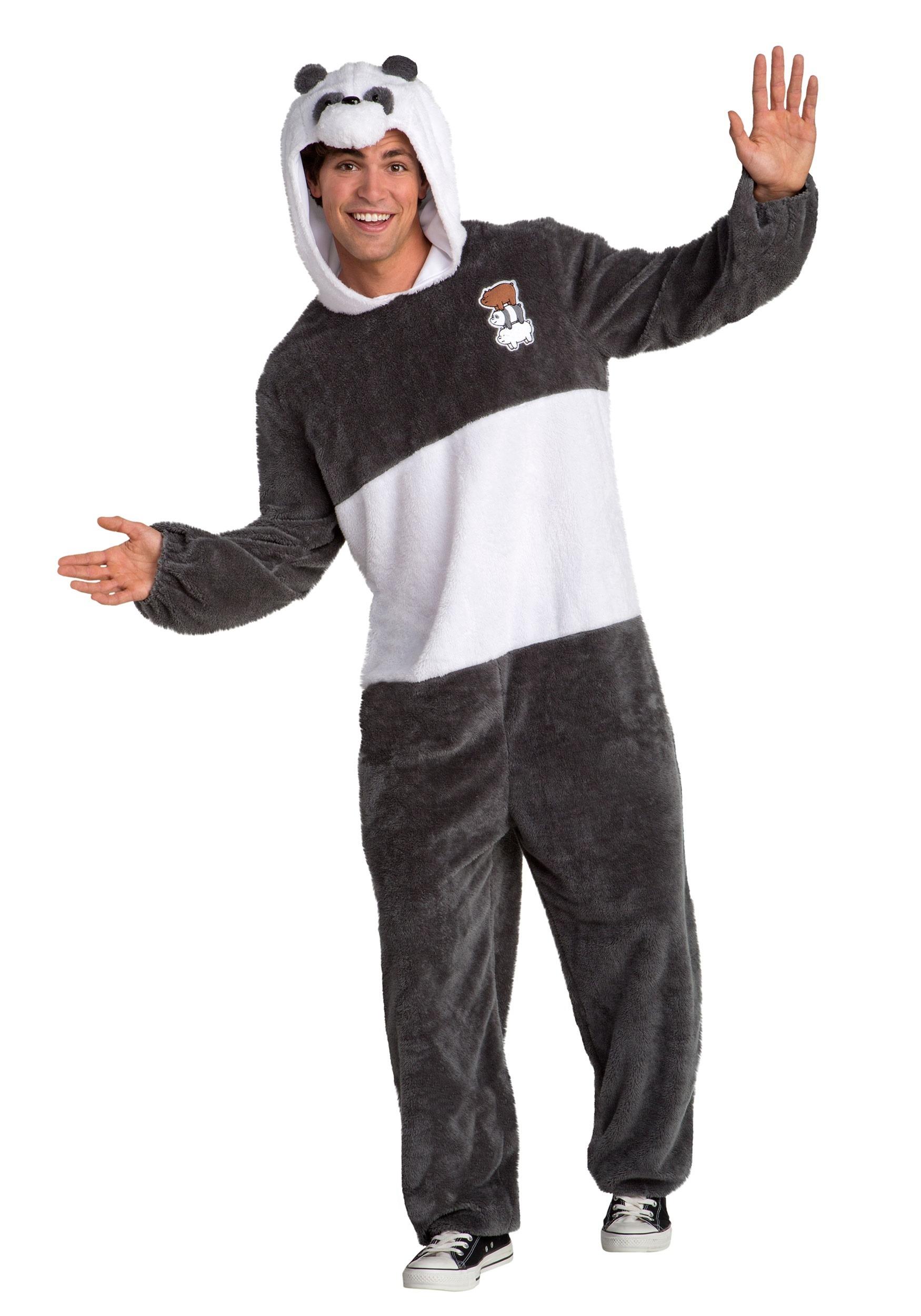 We Bare Bears Panda Bear Fancy Dress Costume for Men