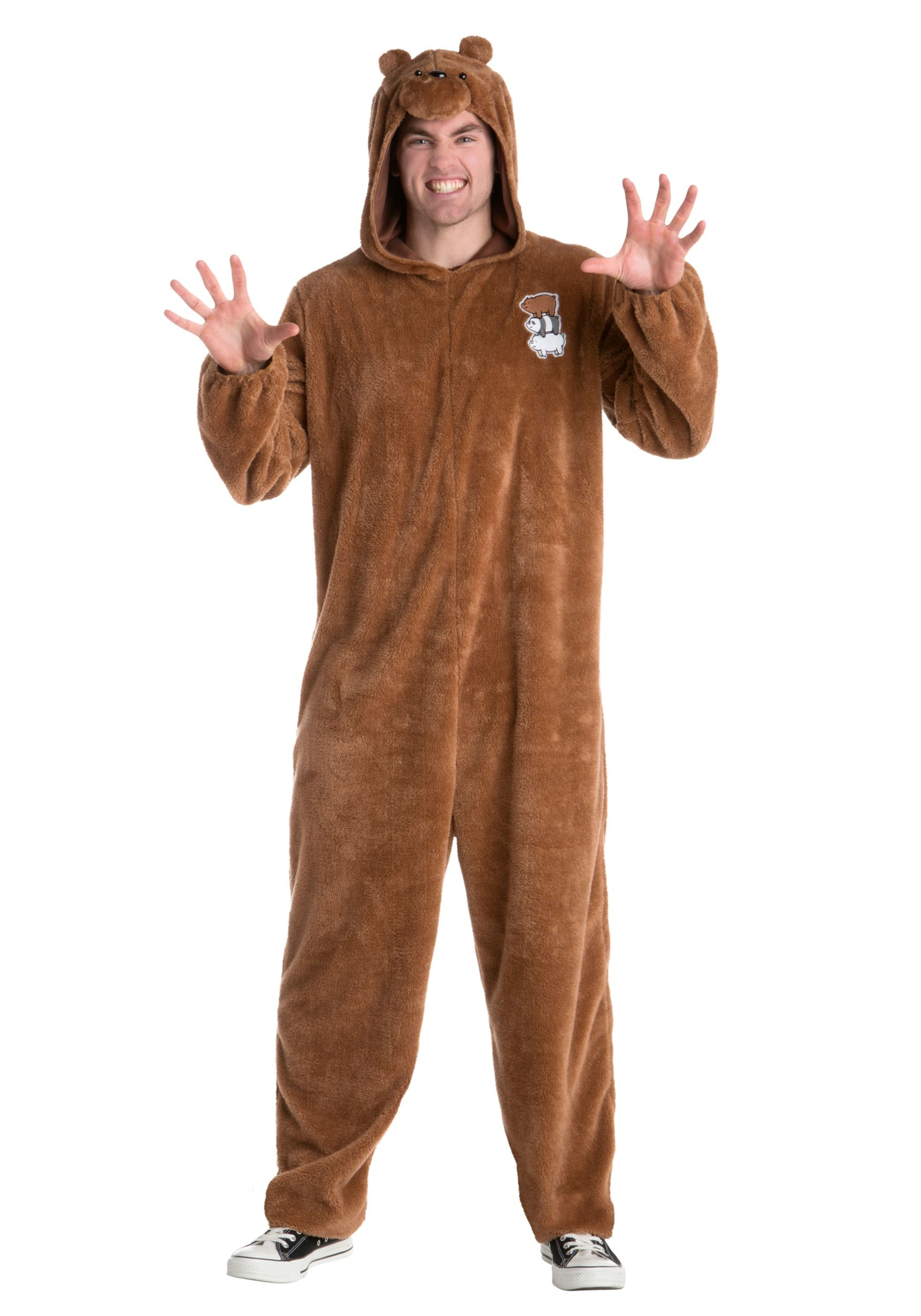 We Bare Bears Grizz Bear Fancy Dress Costume for Men