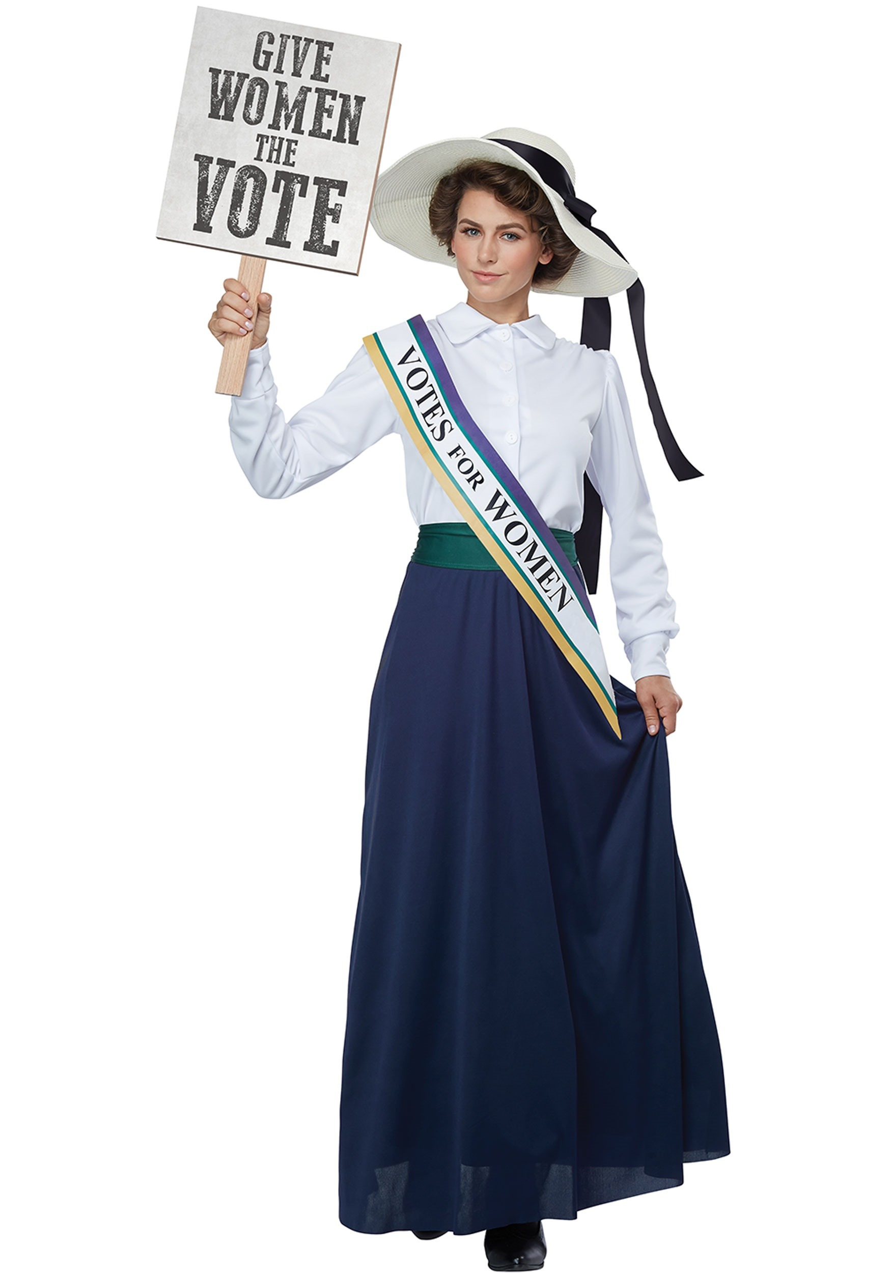 American Suffragette Women's Fancy Dress Costume