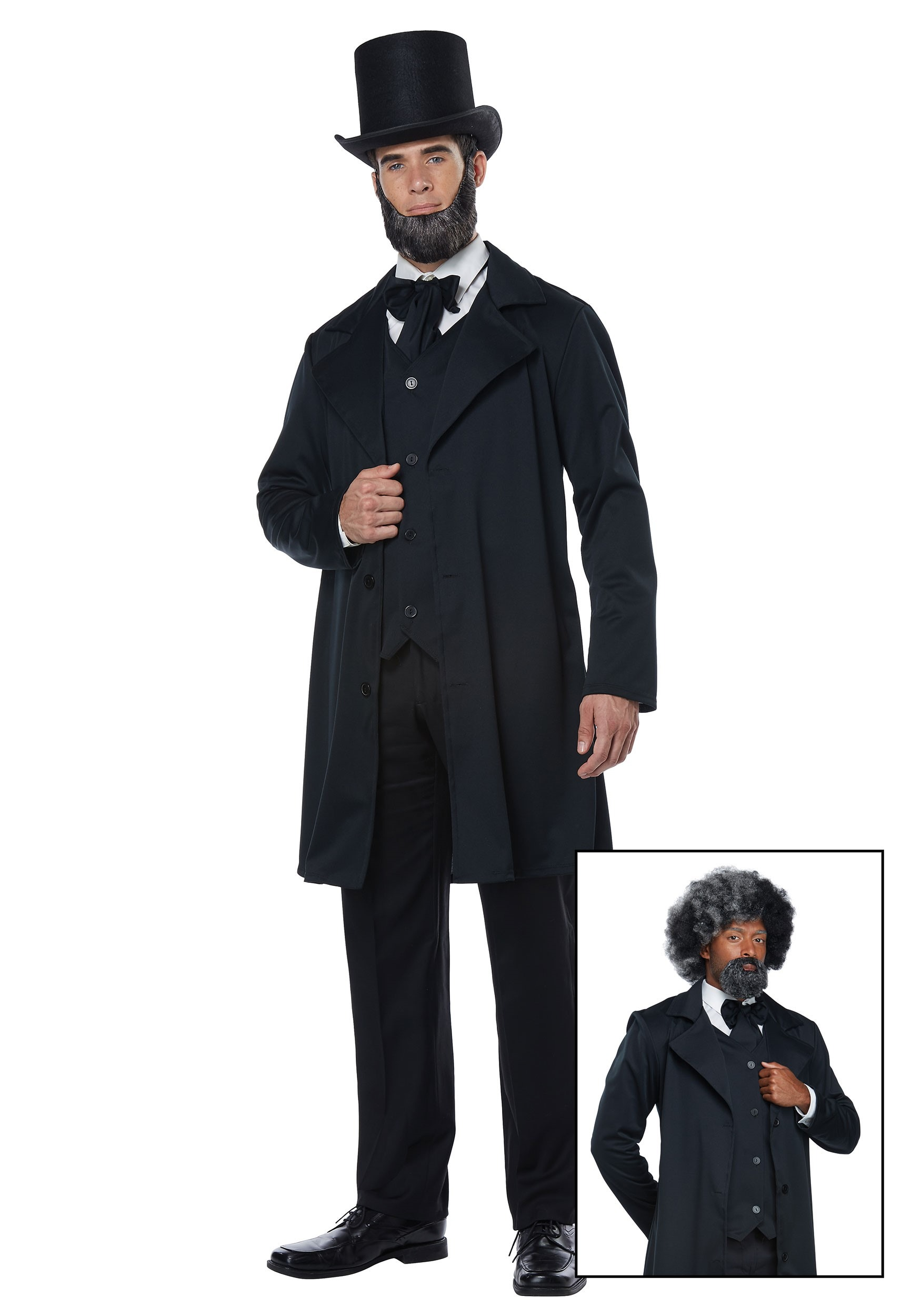 Adult Abraham Lincoln Costume with Vest And Hat Accessory