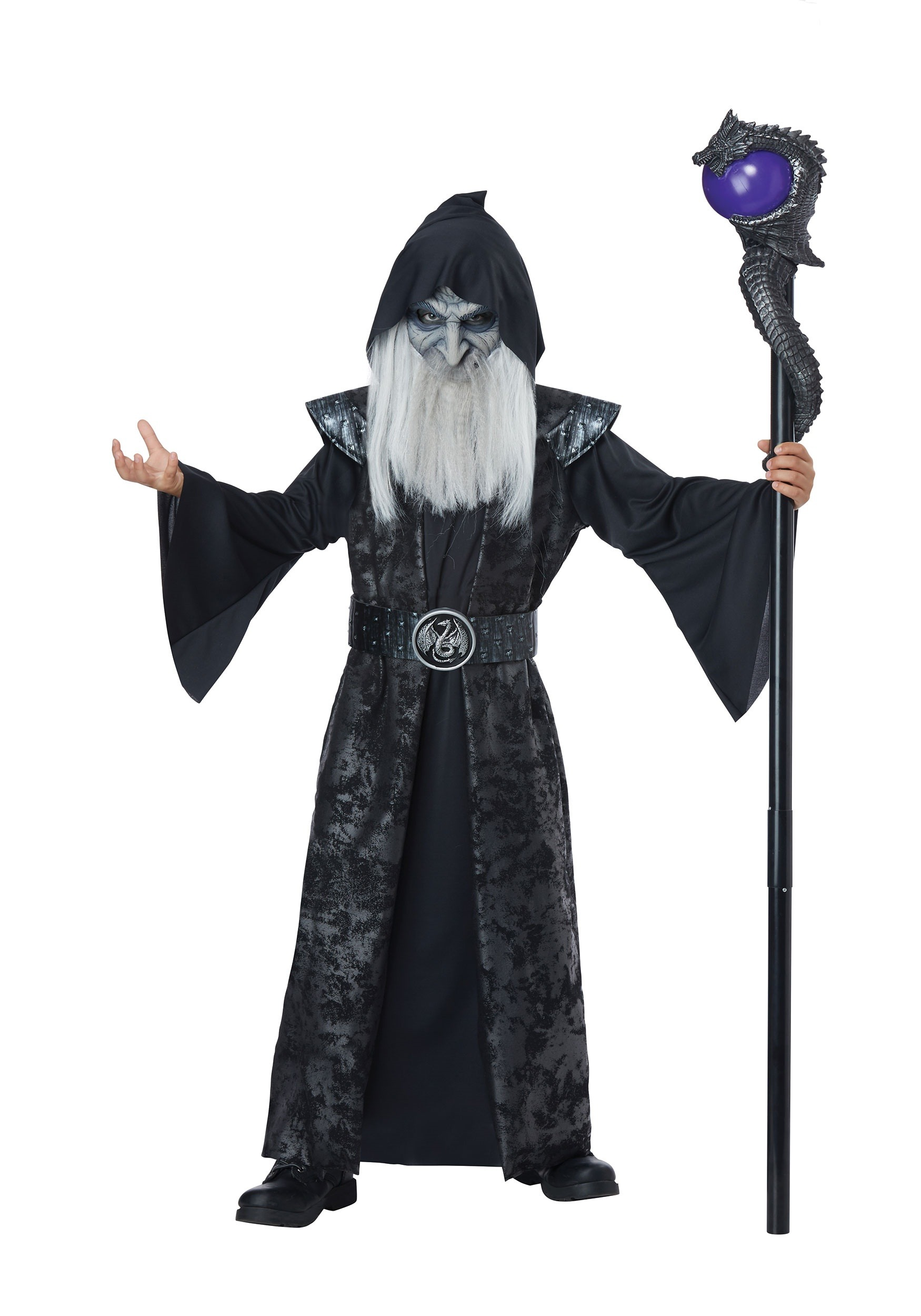 INOpets.com Anything for Pets Parents & Their Pets Dark Wizard Fancy Dress Costume for Children