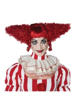 Dark Red Creepy Clown Wig