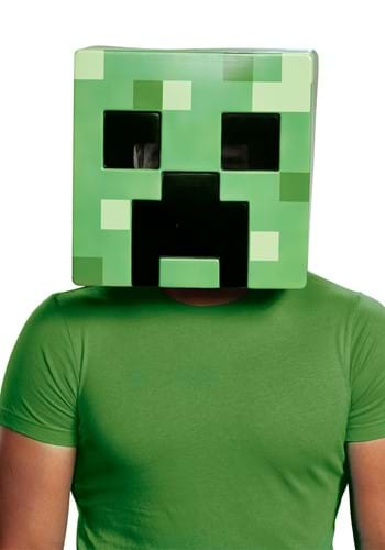 Minecraft Creeper Half Mask
