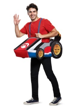 Super Mario Kart Mario Ride In Adult Costume
