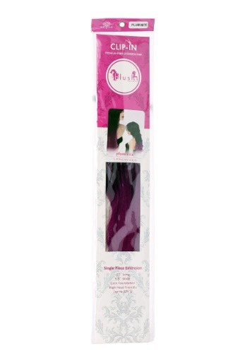 "Heat Stylable Clip In Plum Nite 22"" Hair Extension"