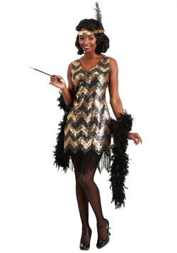 Women's Dolled Up Flapper Costume